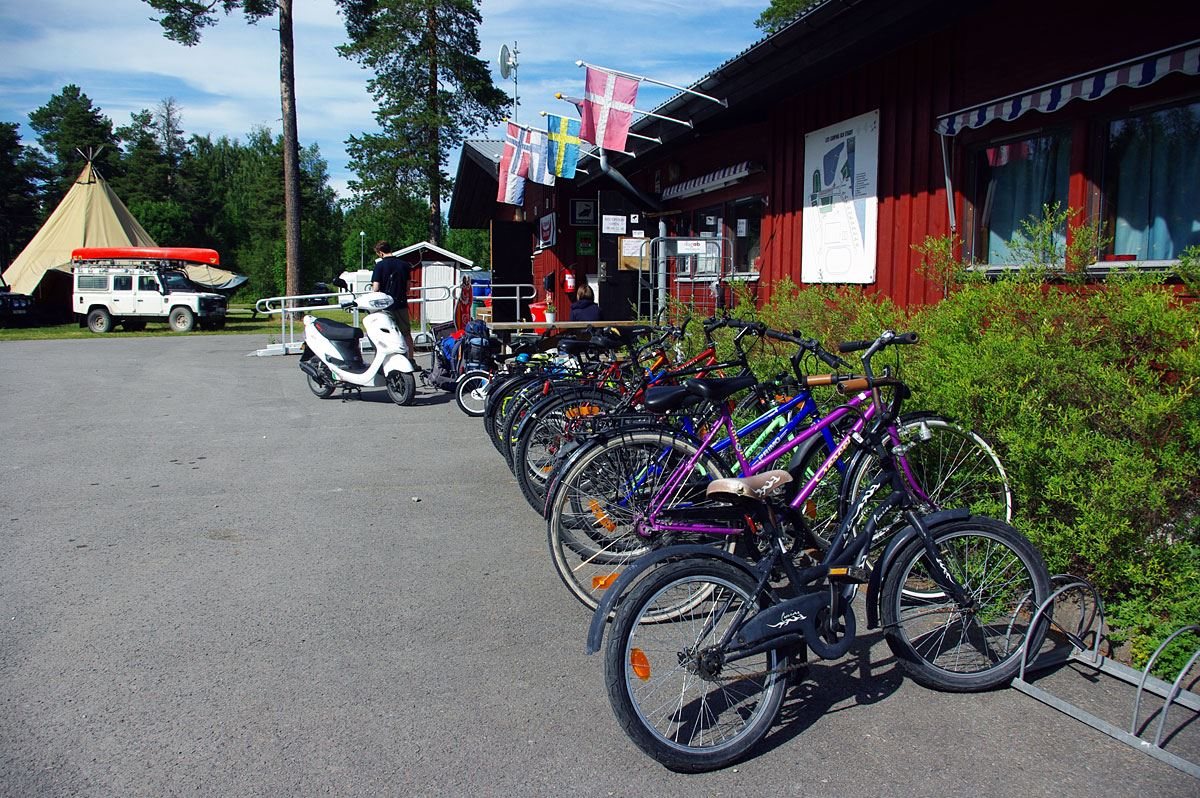 Foto: Lits Camping,  © Copy: Lits Camping, Reception and bikes