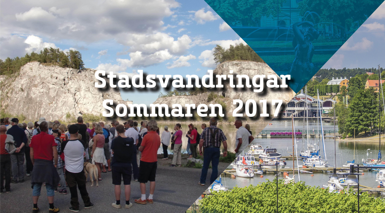 Stadsvandringar Sommar 2017, En vandring i staden