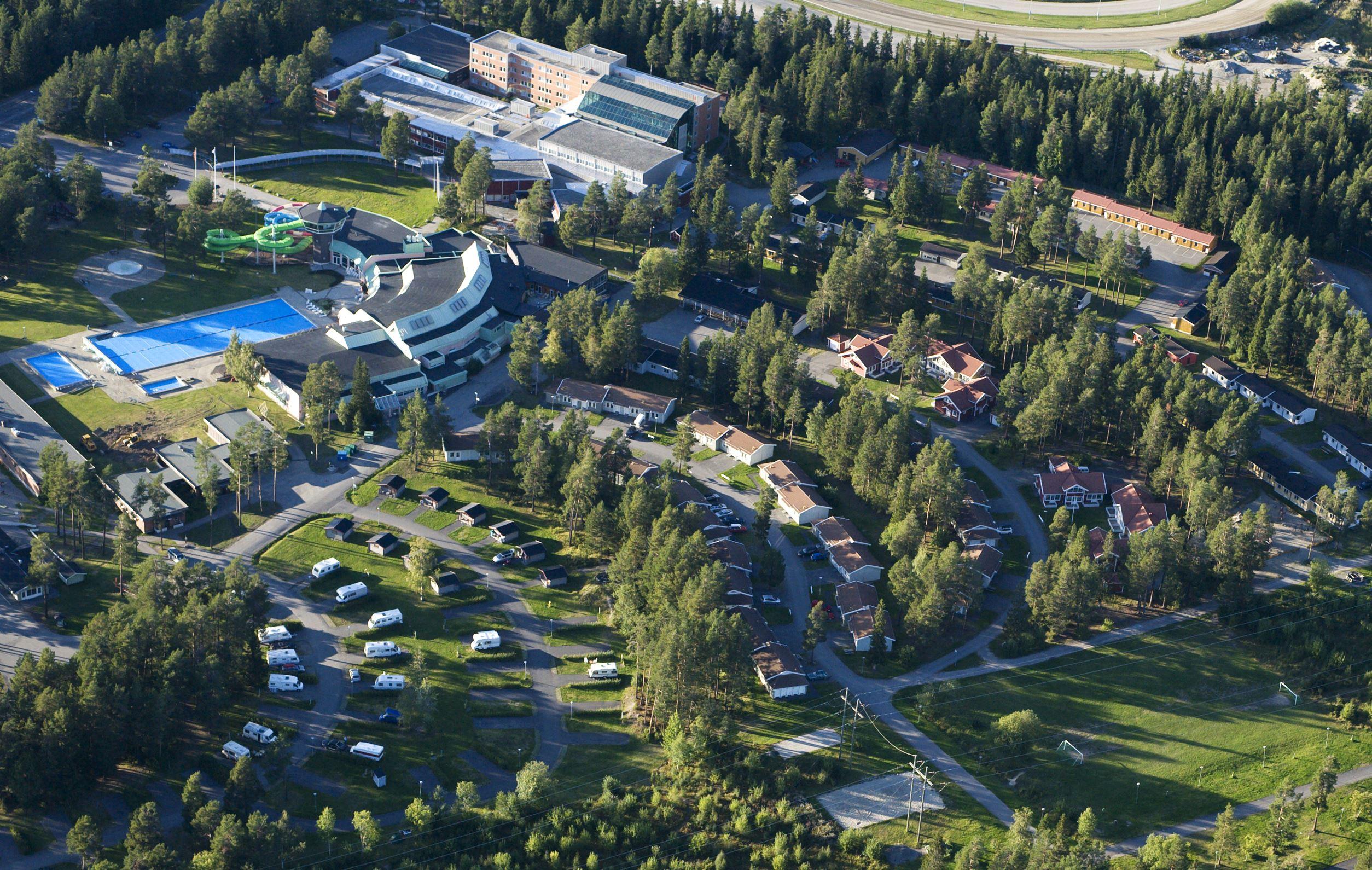 Foto: Östersunds Stugby & Camping,  © Copy: Östersunds Stugby & Camping, Flygbild Östersunds Stugby & Camping