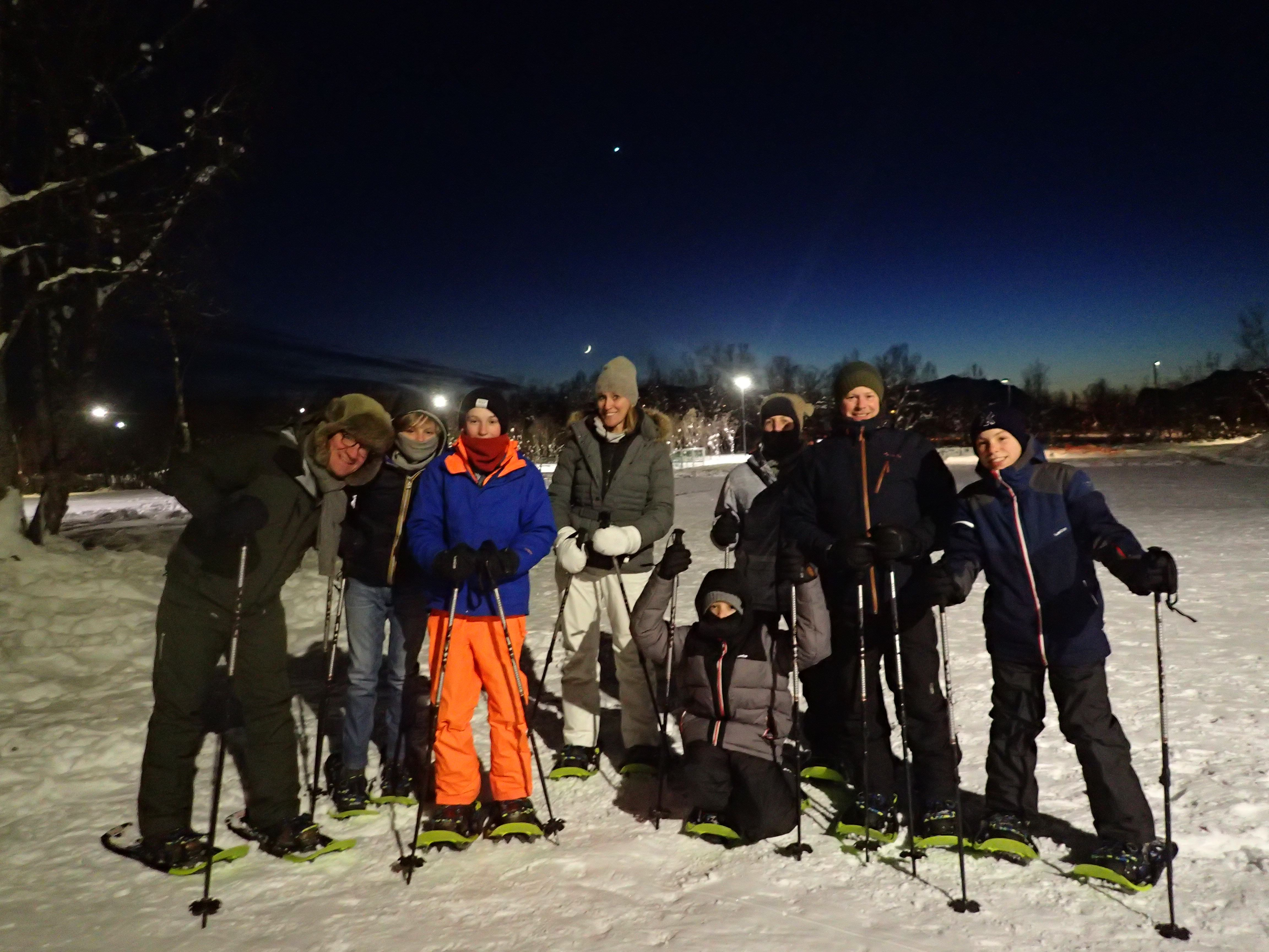 Evening Snowshoe Trip with a Bonfire - Tromsø Outdoor