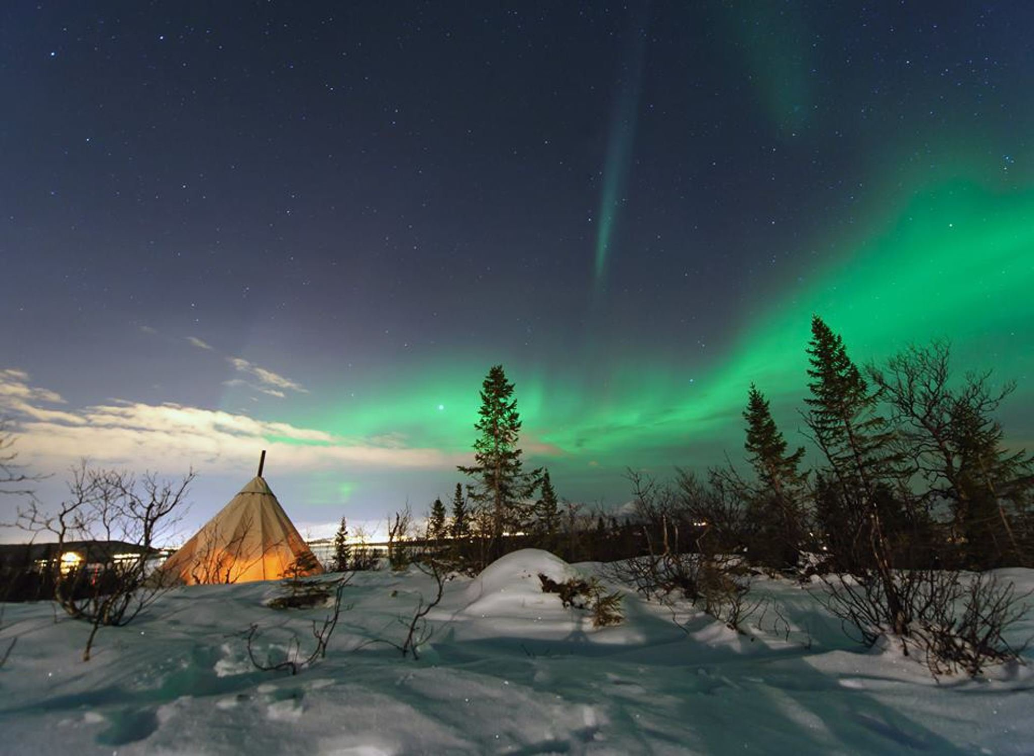 Northern Lights & Reindeer Sledding