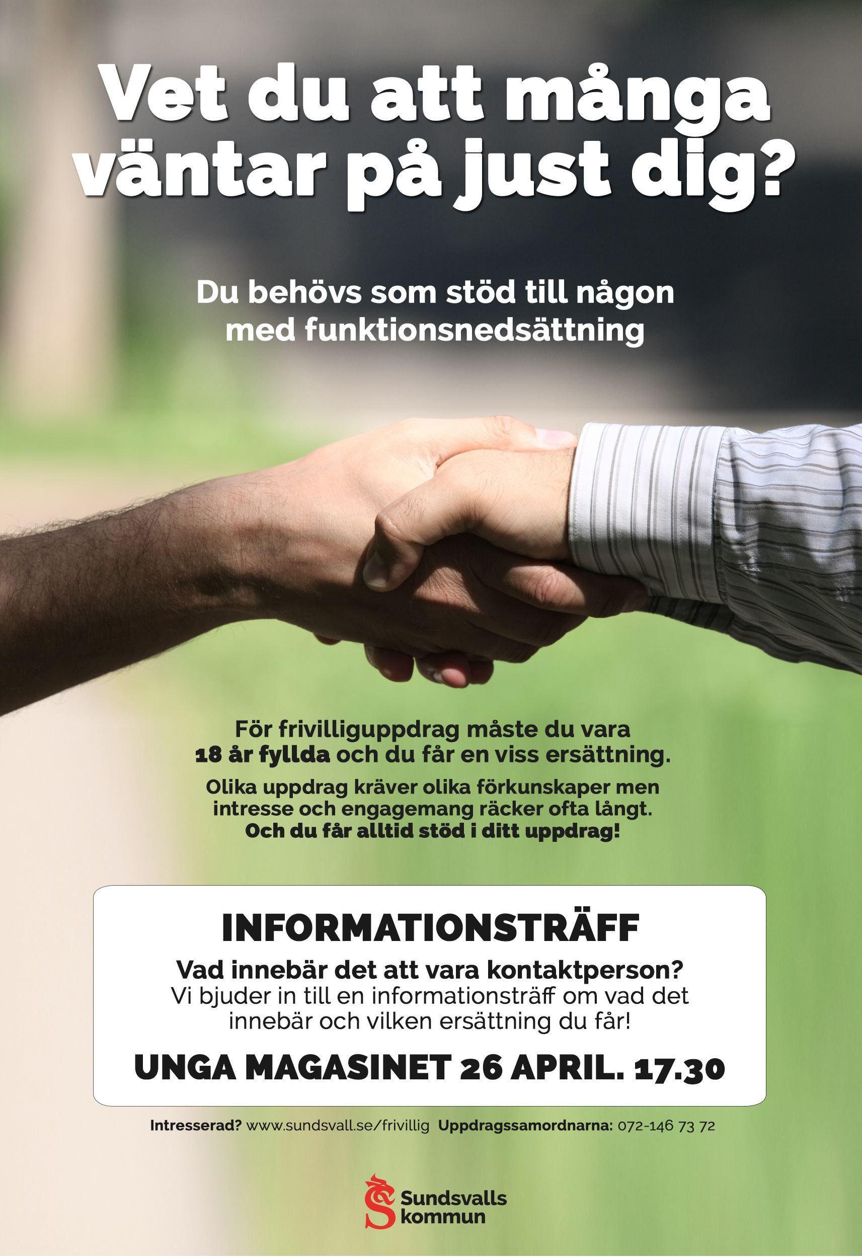 Informationsträff om att bli kontaktperson