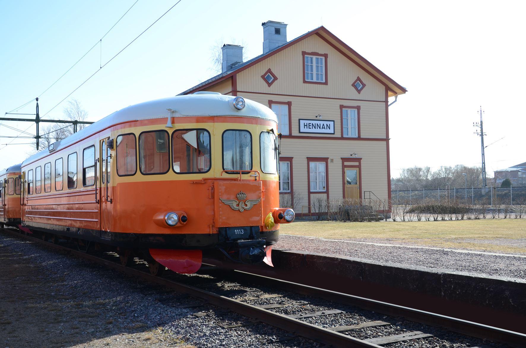 Rälsbuss varje dag till Järnvägsmuseet