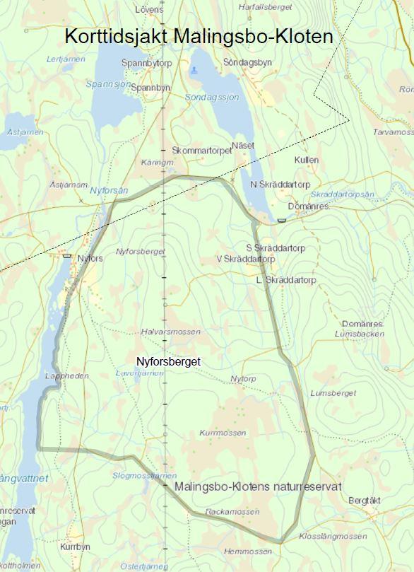 Malingsbo-Kloten Dagskort - Nyforsberget