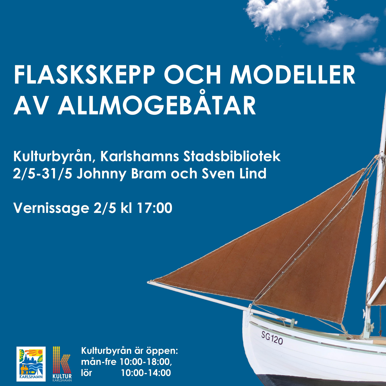 Flaskskepp och modeller av allmogebåtar