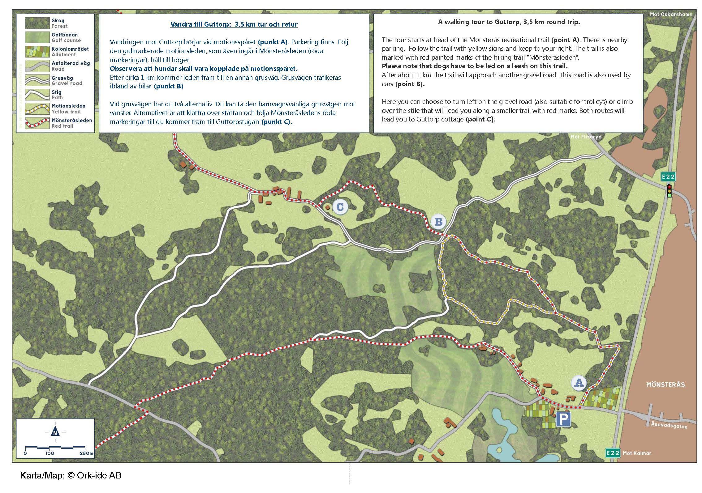 Vandra till Guttorp: 3,5 km tur och retur
