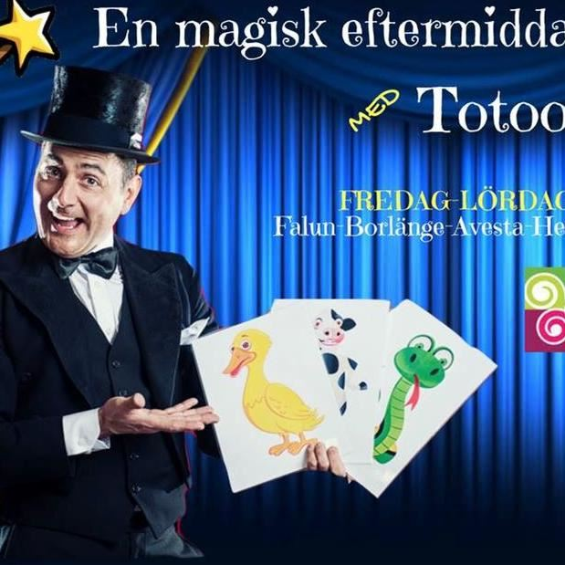En magisk eftermiddag för hela familjen med Totoo trollkarl