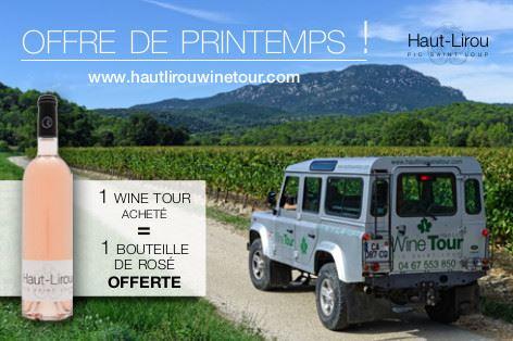 Balade en 4x4 dans les vignes en Pic Saint-Loup, Domaine Haut-Lirou- Offre de Printemps