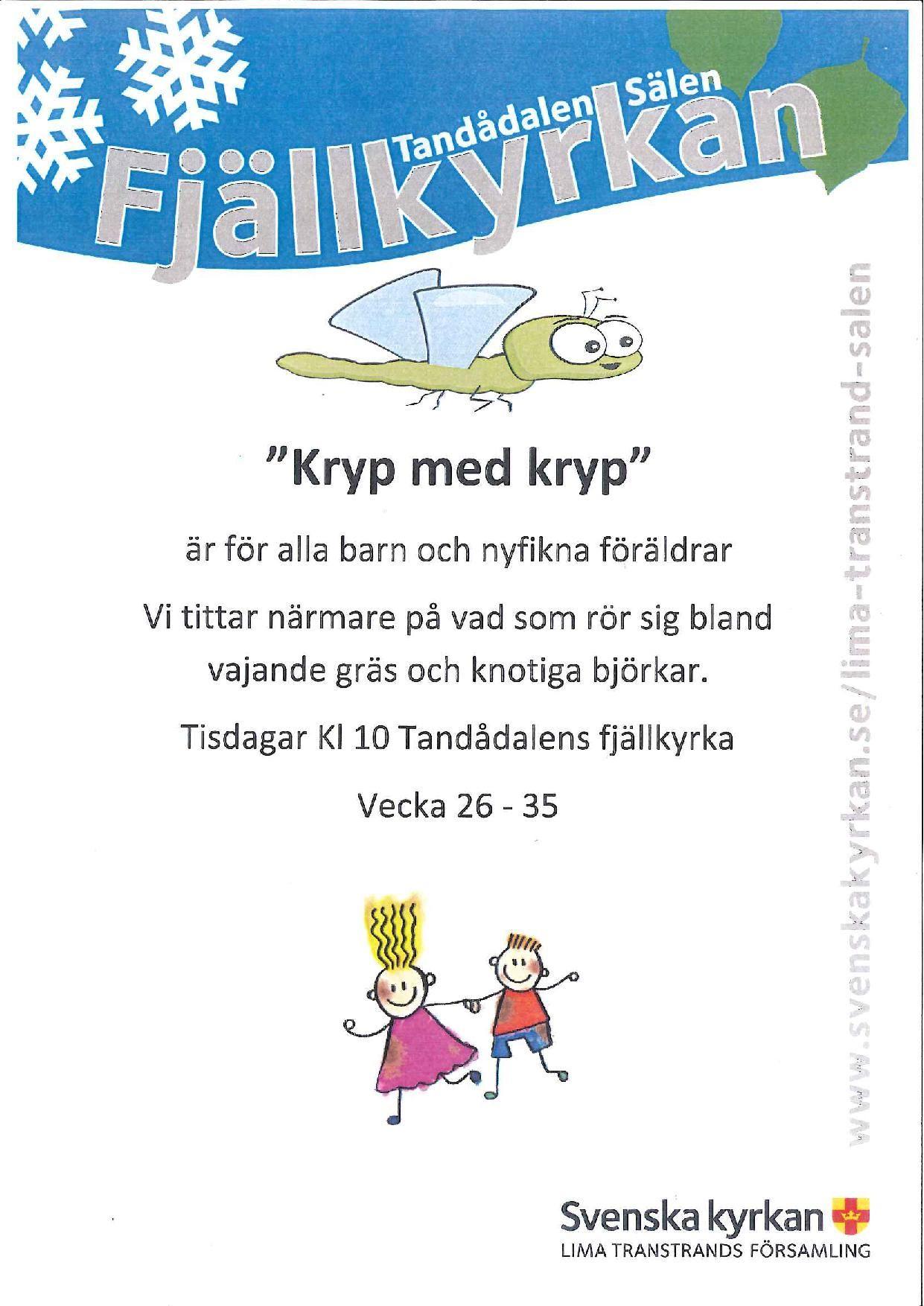 """""""Kryp med kryp"""" vid Tandådalens Fjällkyrka för små och stora."""