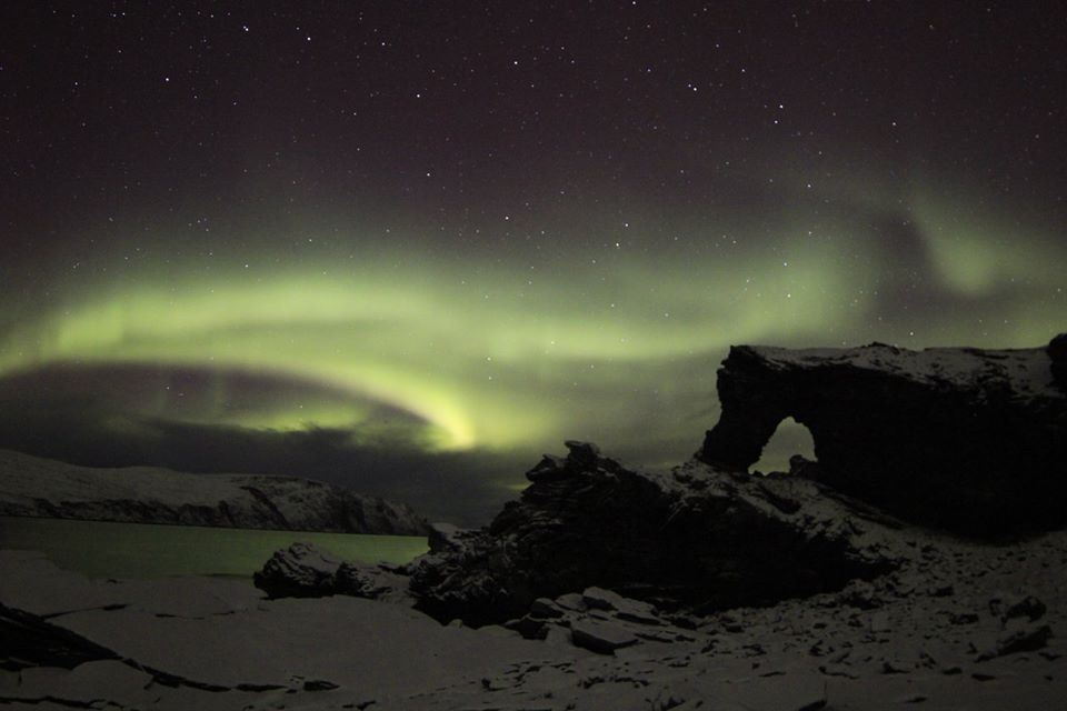Northern Lights expedition to North Cape