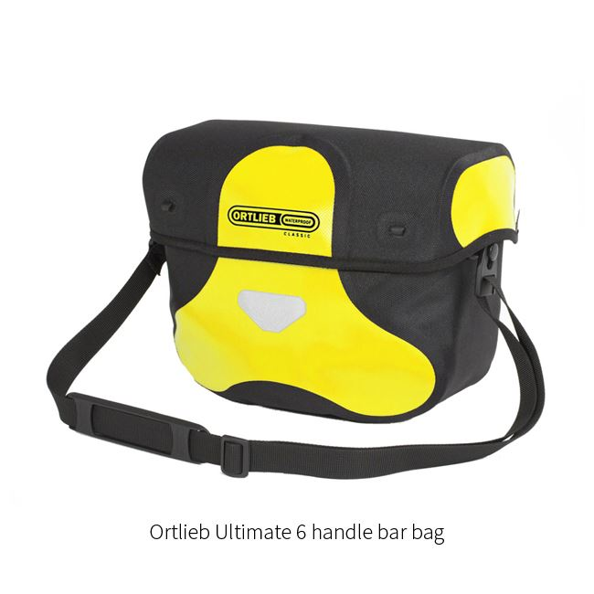 Ortlieb bike panniers - front, rear and for handle bar