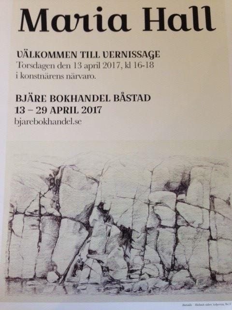 Utställning med Maria Hall på Bjäre Bokhandel