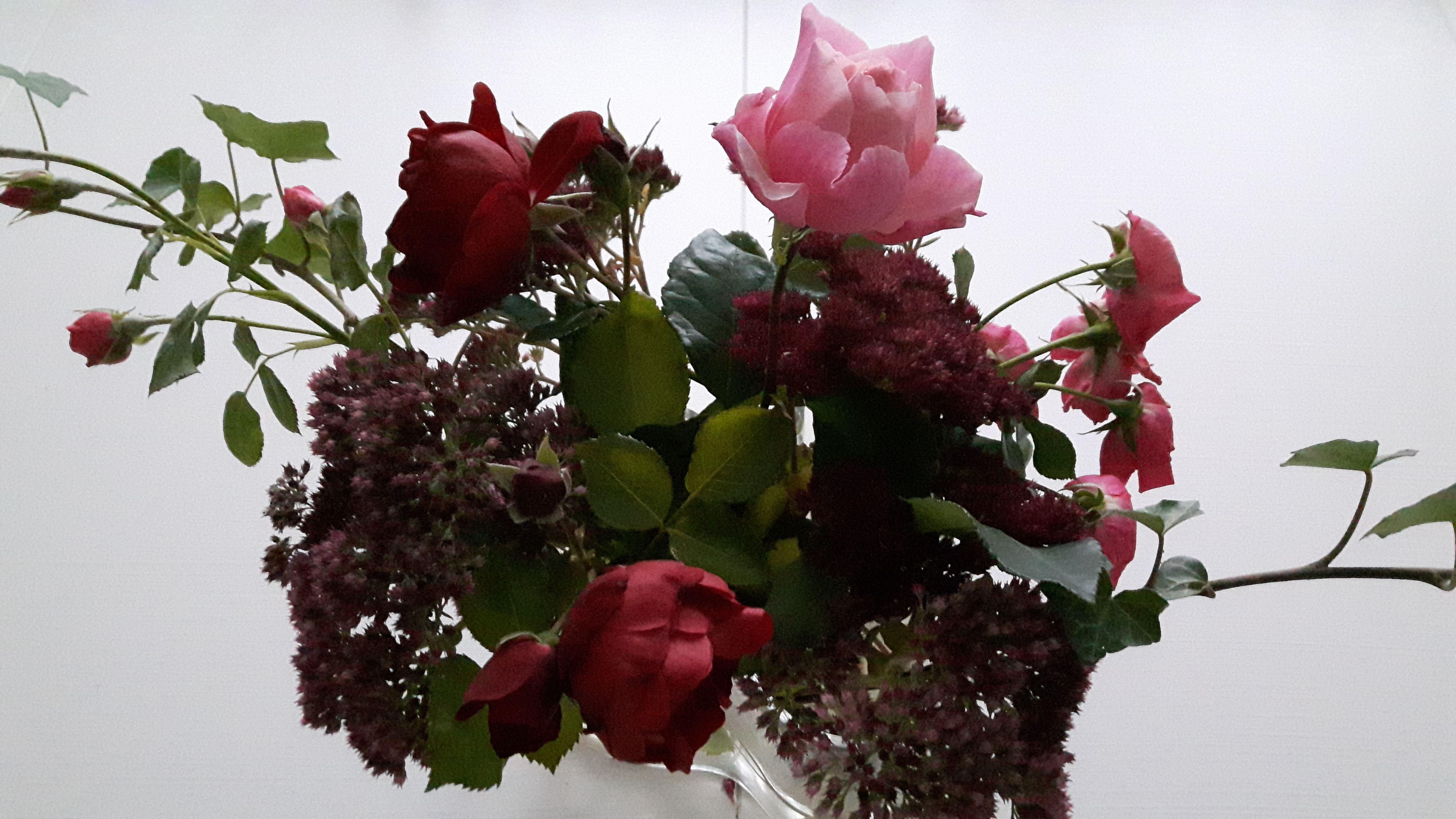 Blomsterarrangemang på Träffpunkten