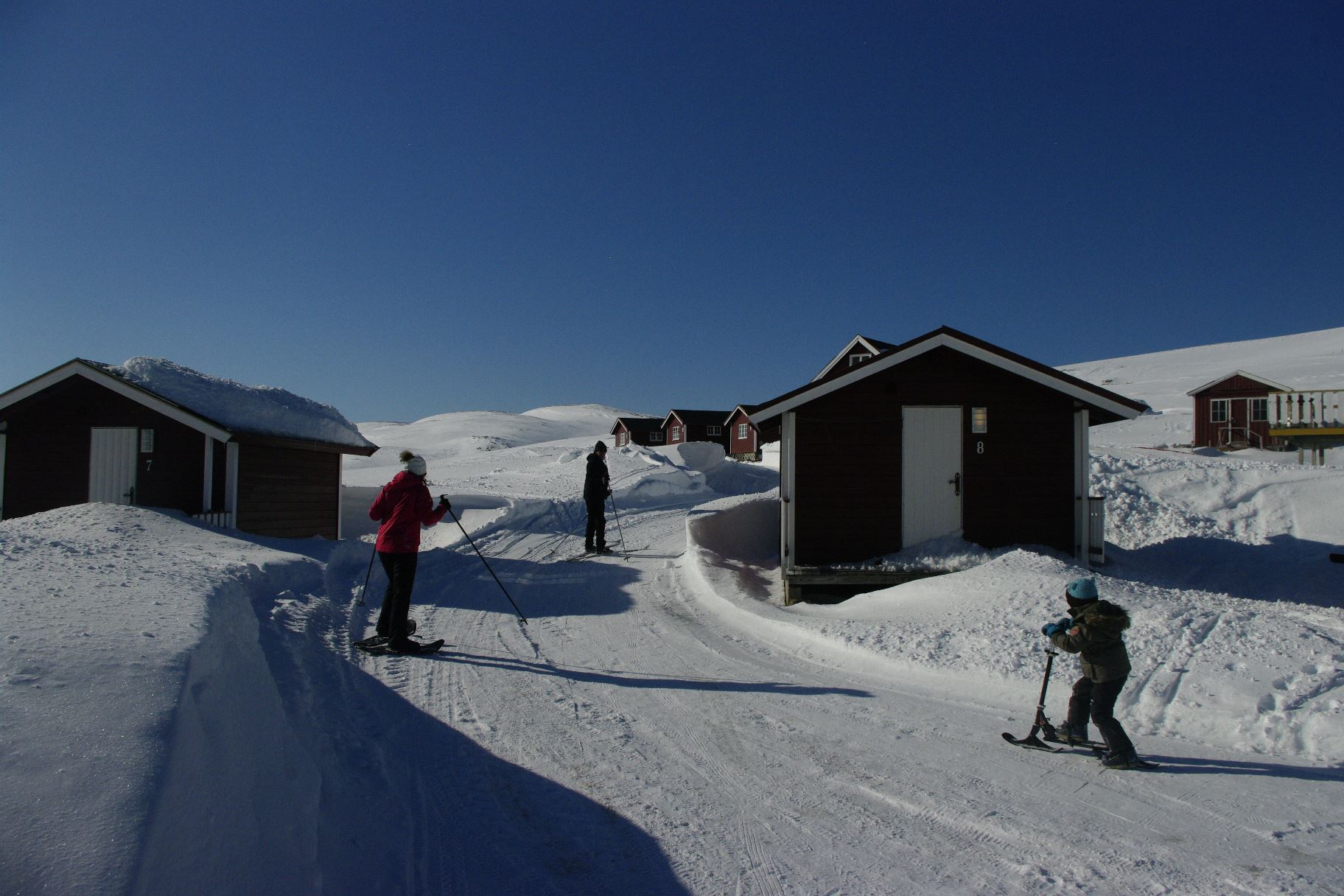 Snowfun and aurora chase in BaseCamp NorthCape