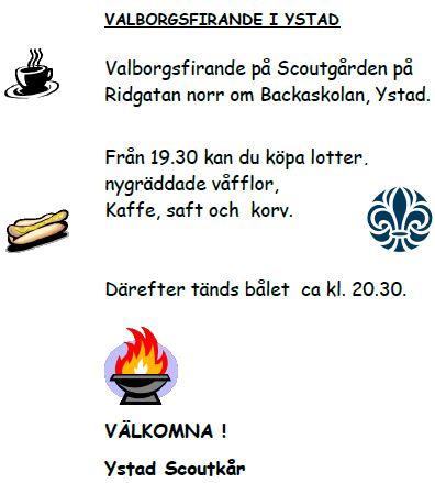 Valborgsfirande på Ridgatan 5