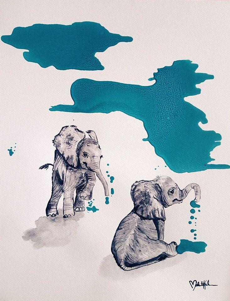 Utställning med Matilda Karlssons konst