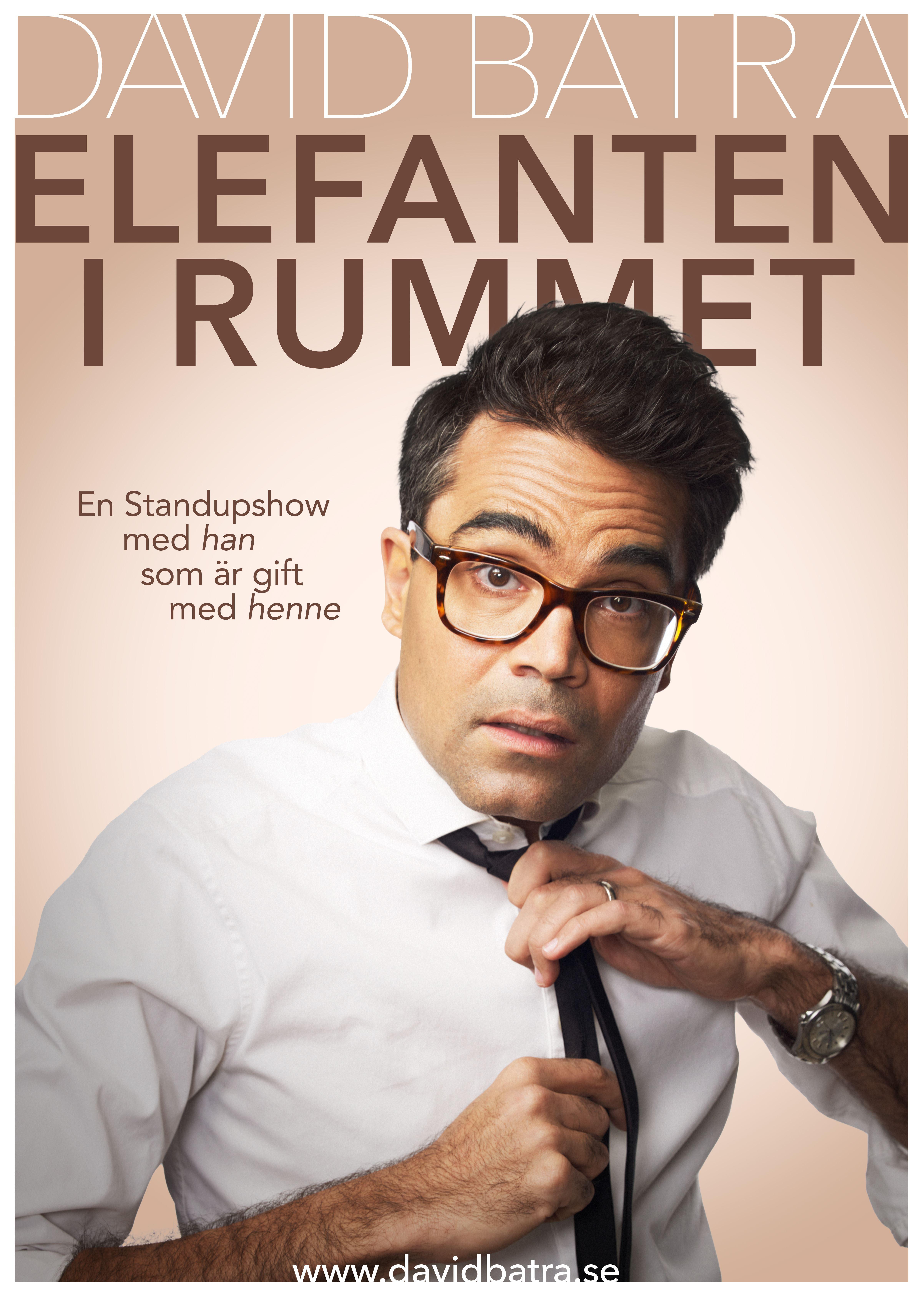 """Komedi: David Batra """"Elefanten i rummet - han som är gift med henne"""""""