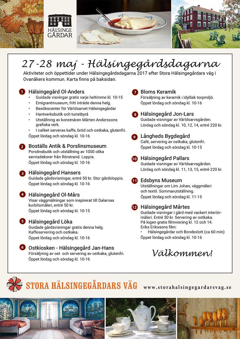 Hälsingegårdsdagarna 2017 - Ovanåker
