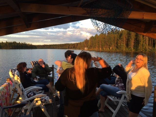 Flottetur på Släppträsksjön