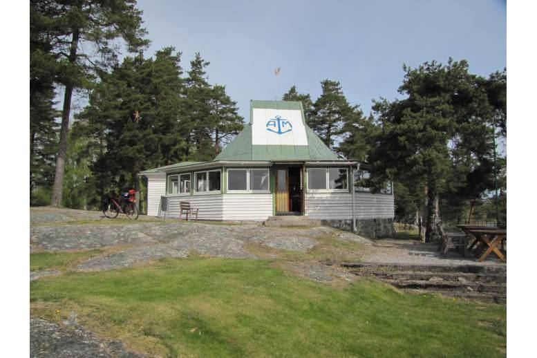 Västra Sund - Föreningslokal vid Glafsfjorden med enastående sjöutsikt, grillplats och brygga.