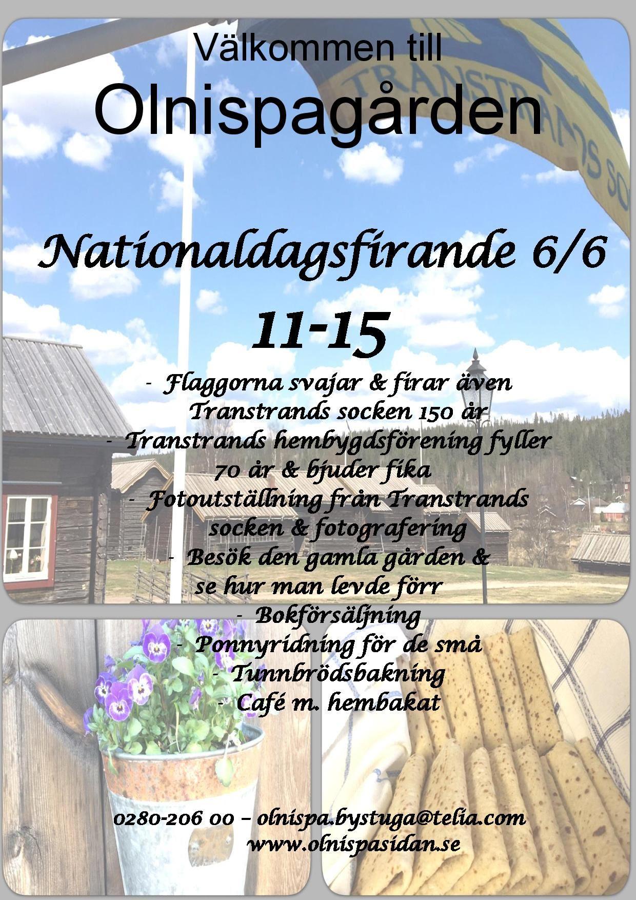 Nationaldagsfirande på Olnispagården i Sälen