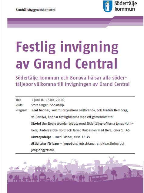 Festlig invigning av Grand Central