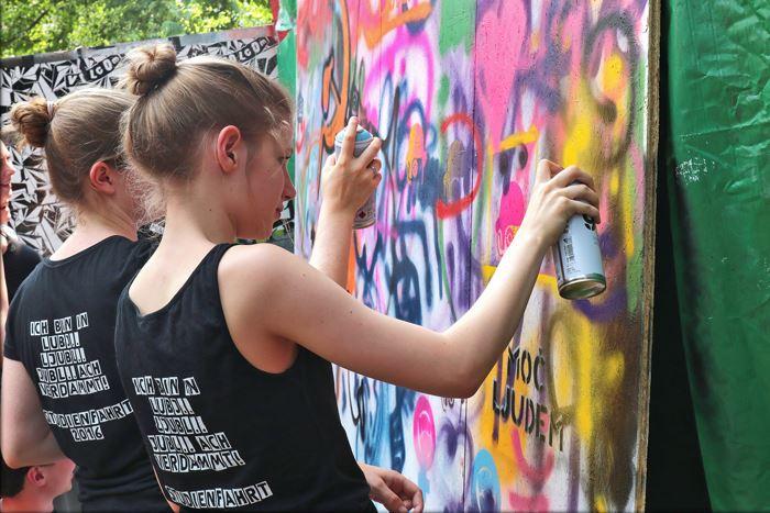 Graffiti Workshop med Sebastian Bruhn.