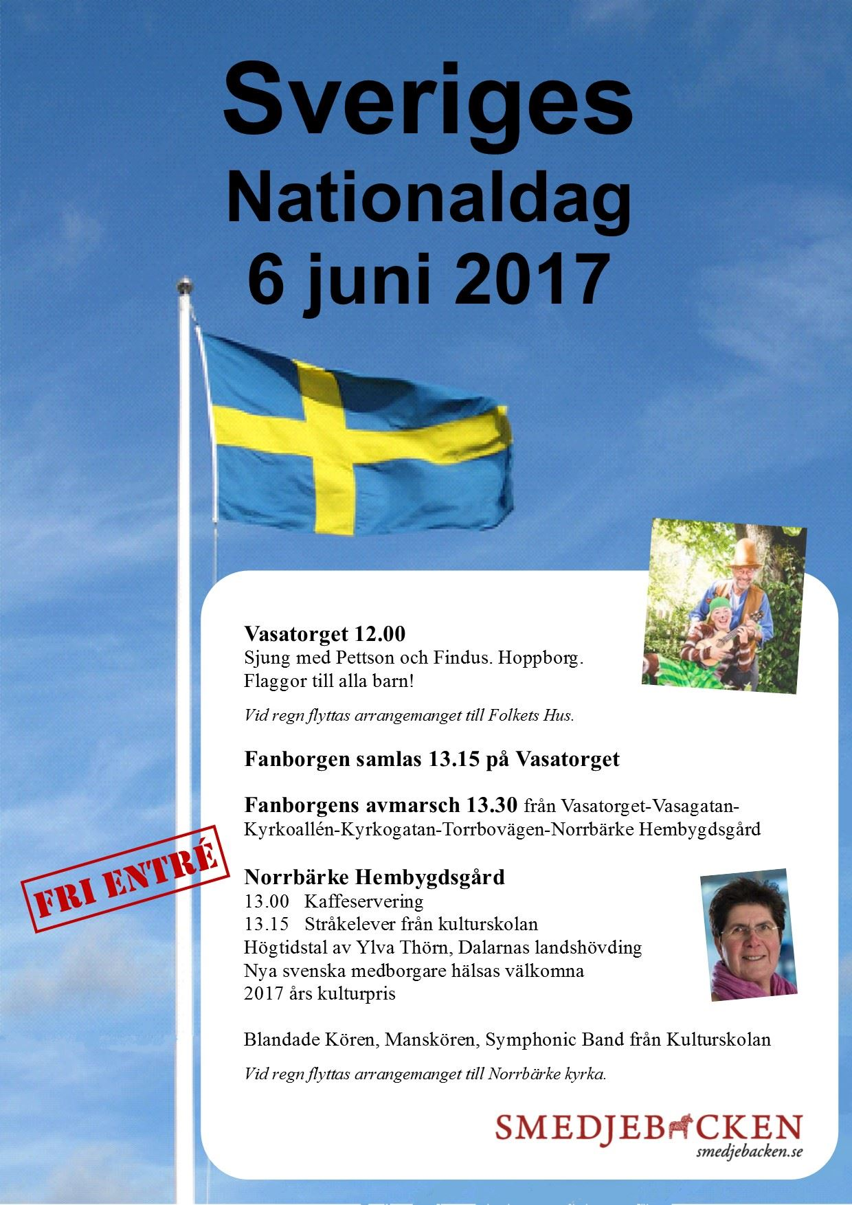 Nationaldagsfirande i Smedjebacken