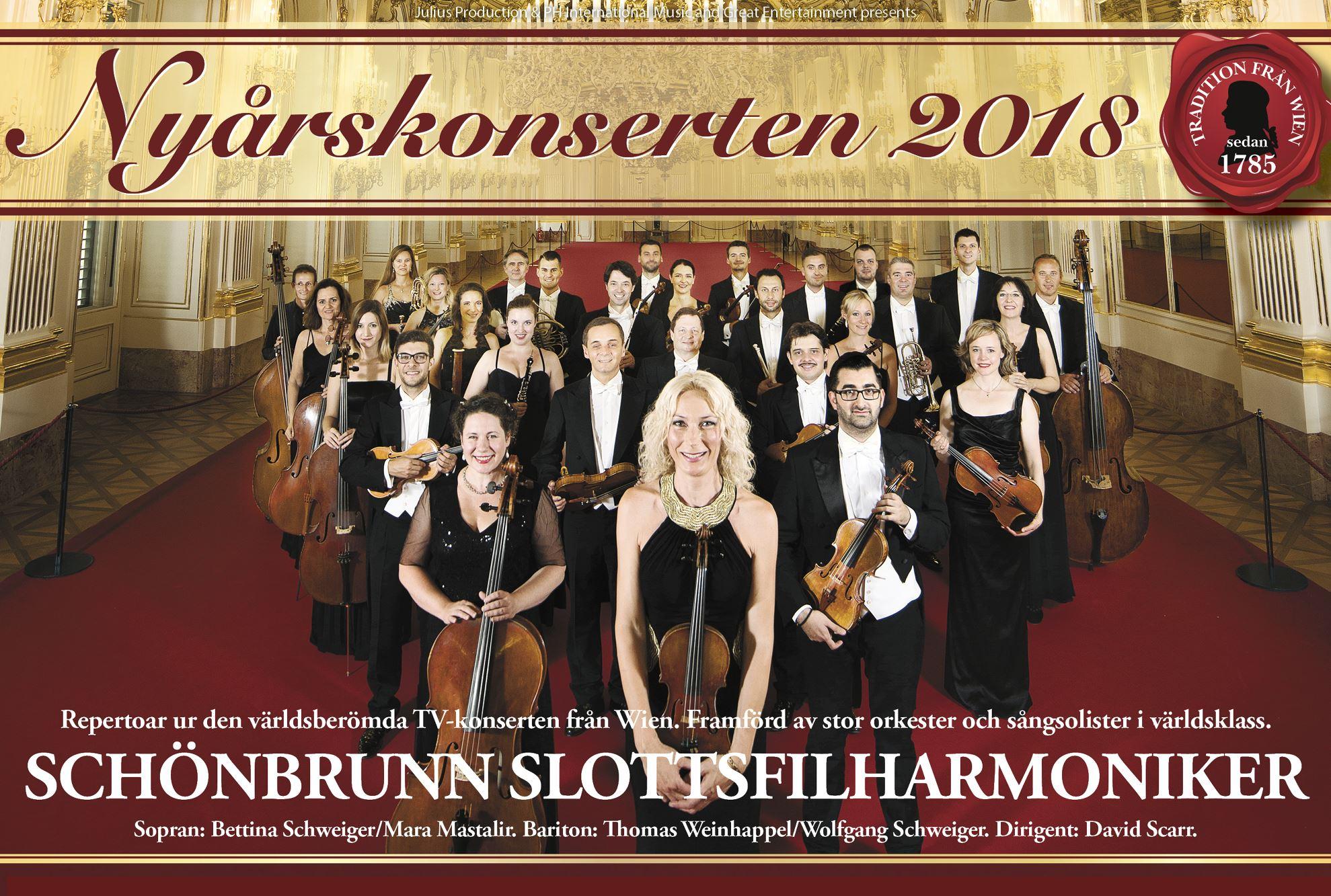 Musik: Nyårskonserten 2018 - Schönbrunns Slottsfilharmoniker, Wien