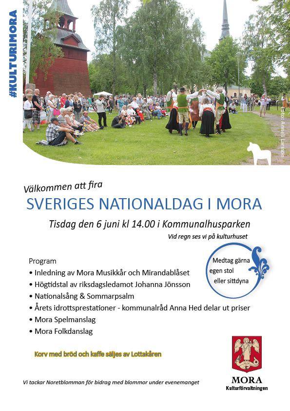 Nationaldagsfirande i Kommunalhusparken Mora