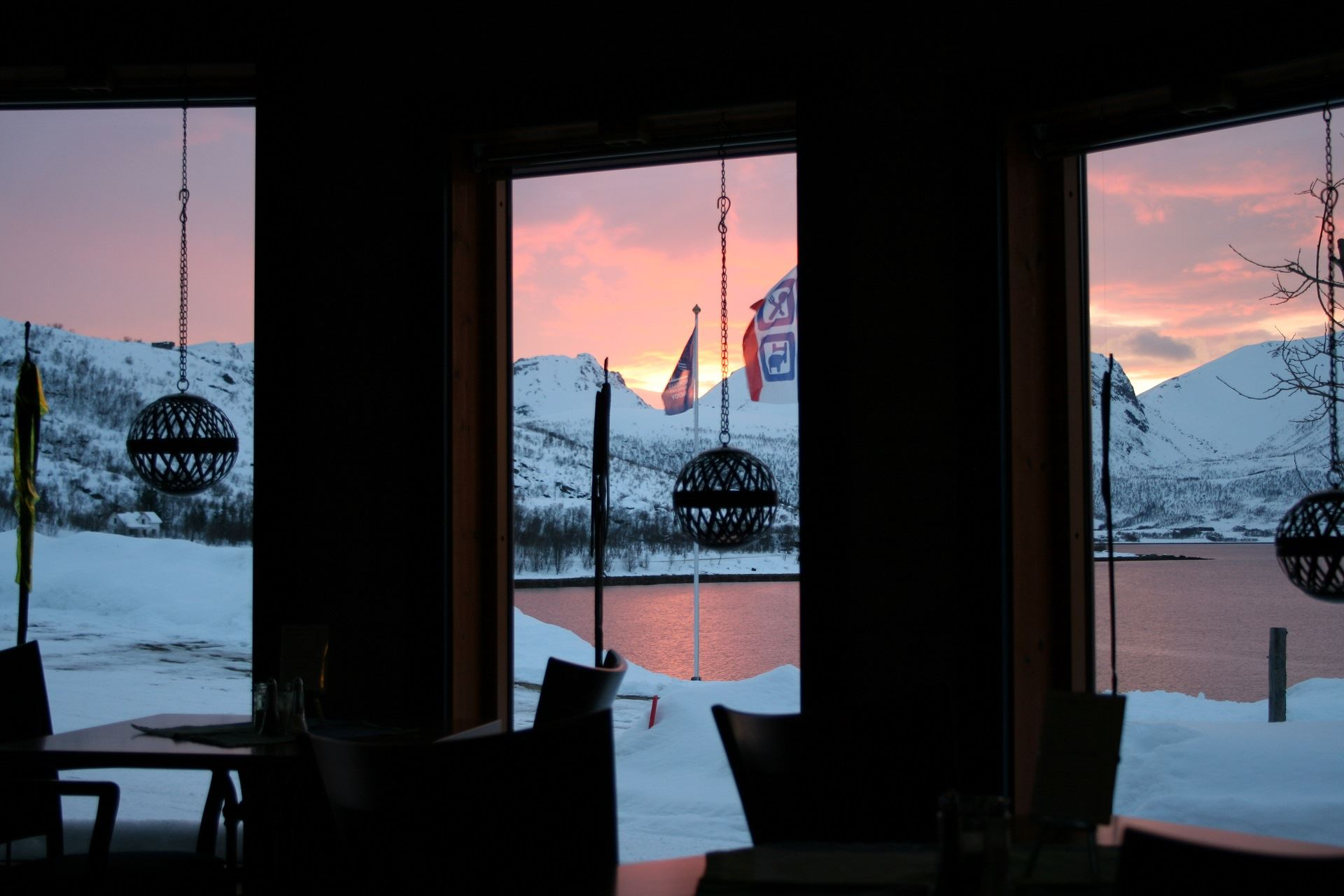 The gallery restaurant at Andøy Friluftssenter