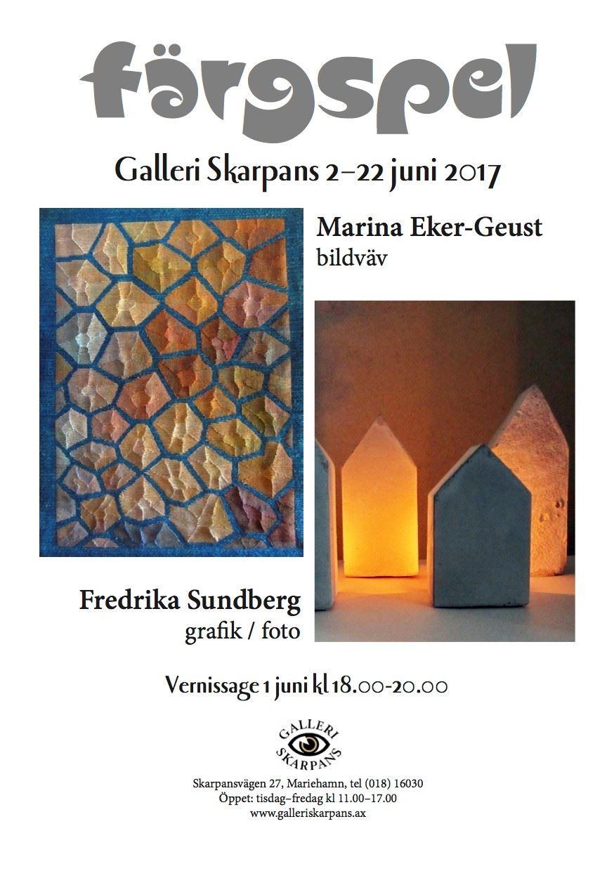 Utställning: Färgspel av Marina Eker-Geust och Fredrika Sundberg