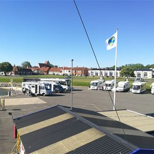 Caravan site - the Marina