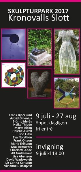 Skulpturpark och utställning på Kronovalls Vinslott