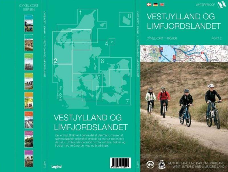 Vestjylland og Limfjordslandet cykelkort