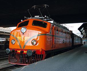 © Sveriges Järnvägsmuseum, Rapidloket följer med tåget till Rättvik och Classic Car Week
