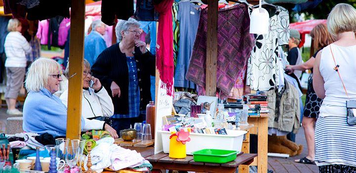 Flea market on the square