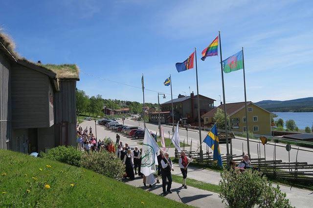 Nationaldagsfirande i fornminnesparken