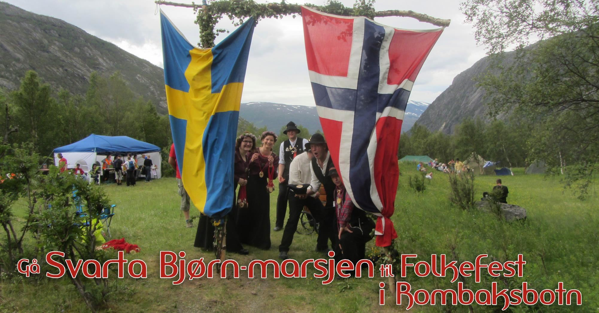 The Black Bear March and Festival at Rombaksbotn