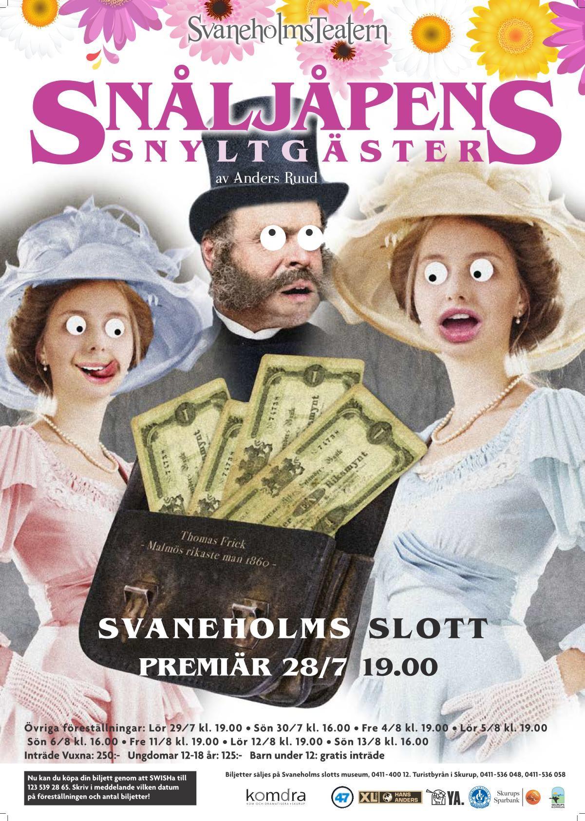 Svaneholmsteatern ger Snåljåpens snyltgäster