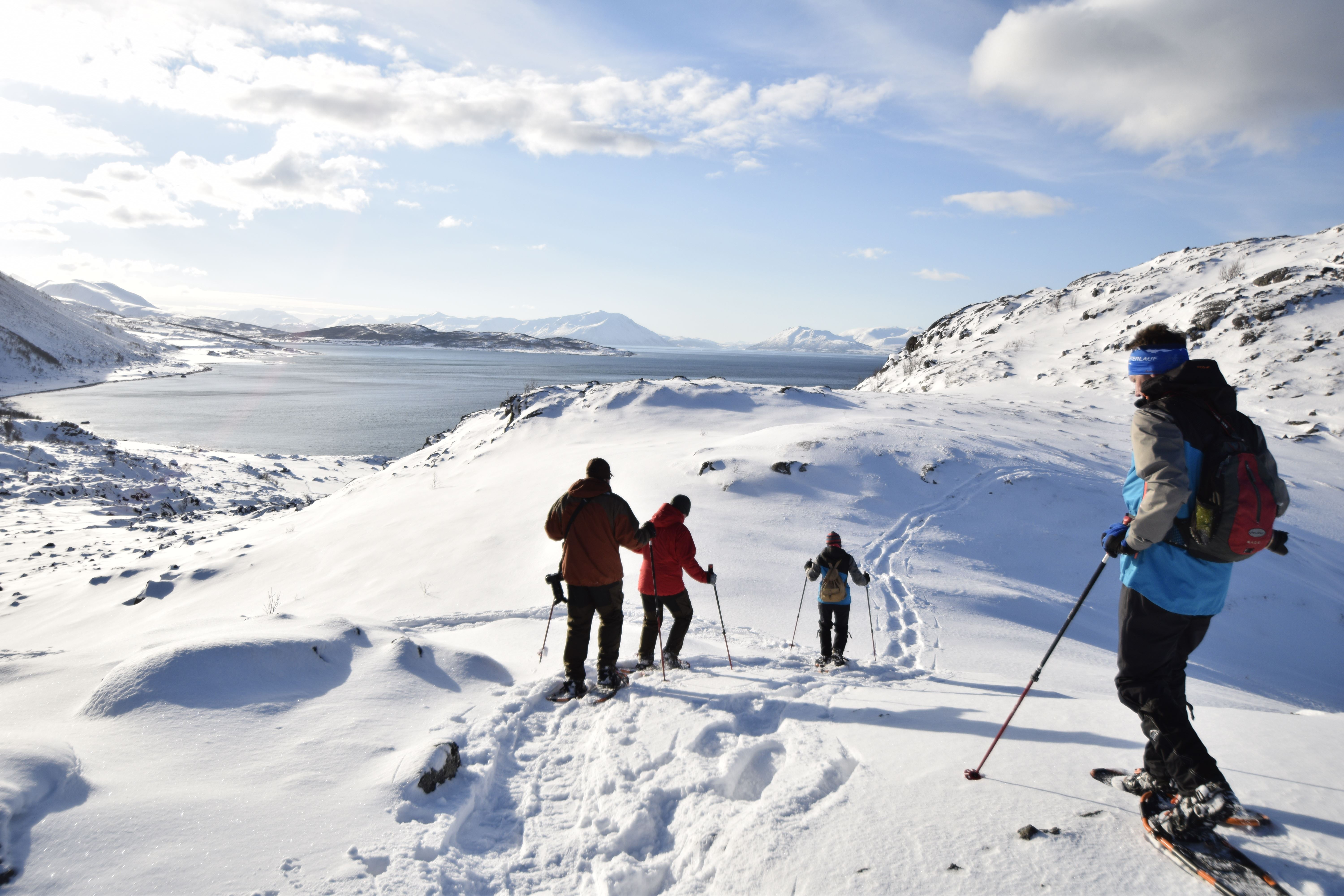 Snowshoe hike in the Lyngen Alps - XLyngen