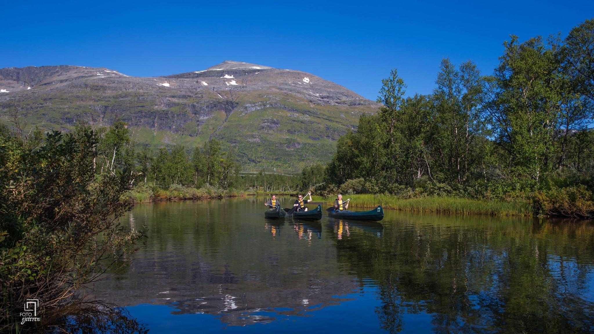 Guided canoeing through the wetland Stormyra