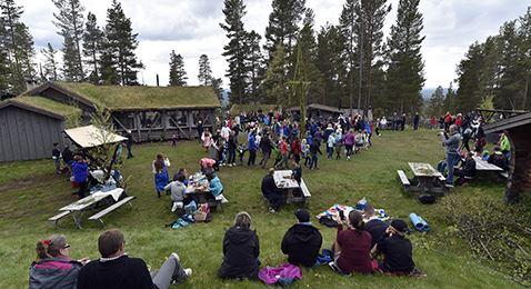 Midsummer celebrations at Idre Fjäll