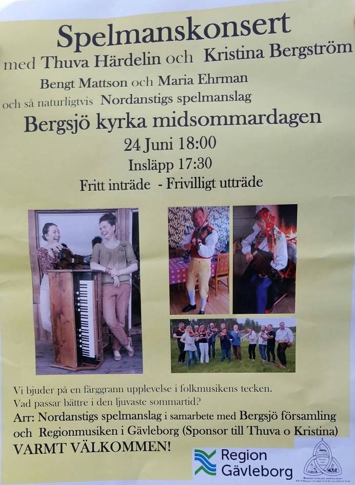 Spelmanskonsert på Midsommardagen - Nordanstigs spelmanslag
