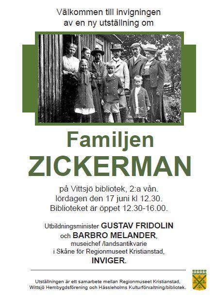 Utställning om familjen Zickerman