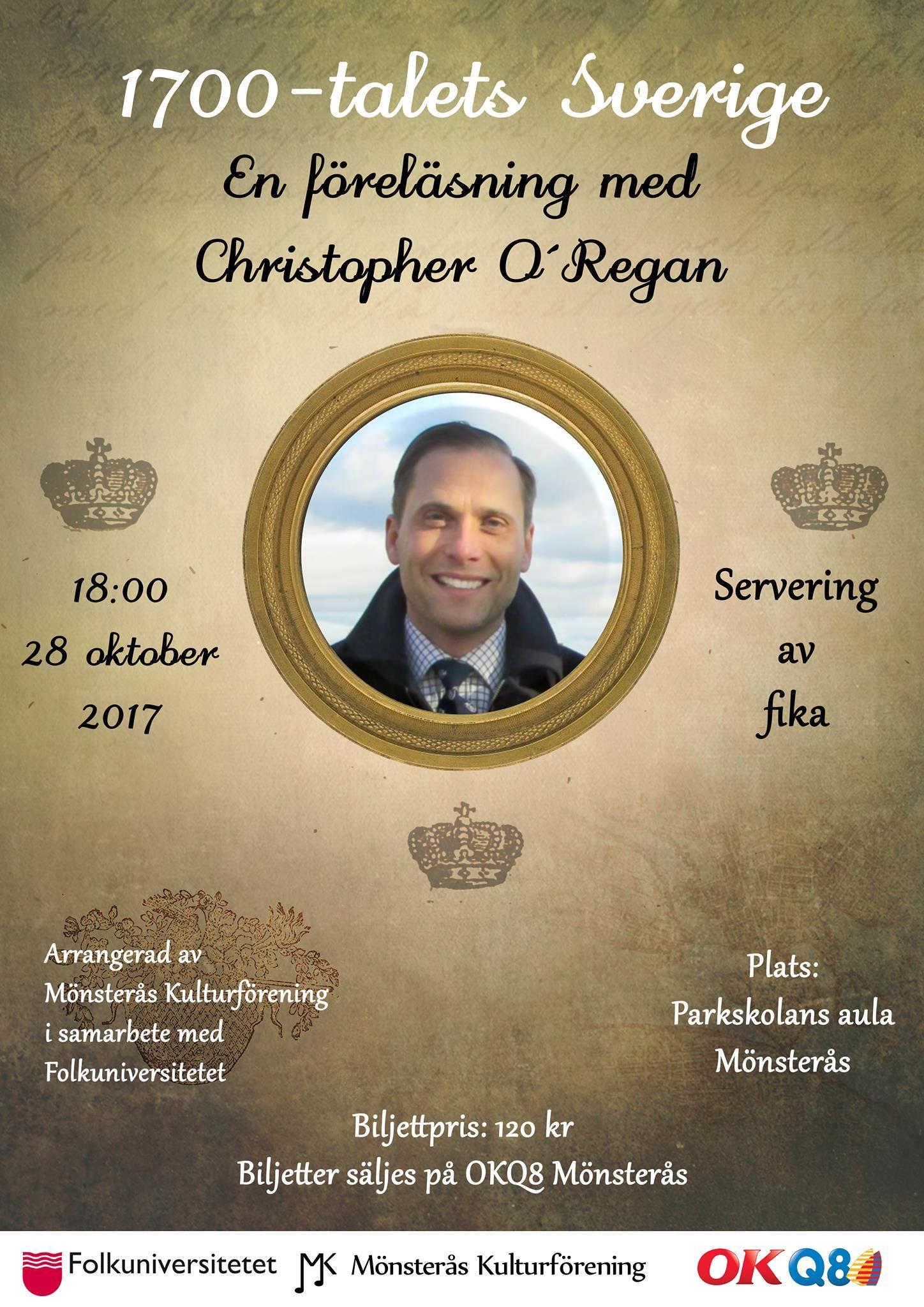 1700-talets Sverige - En föreläsning med Christopher O´Regan