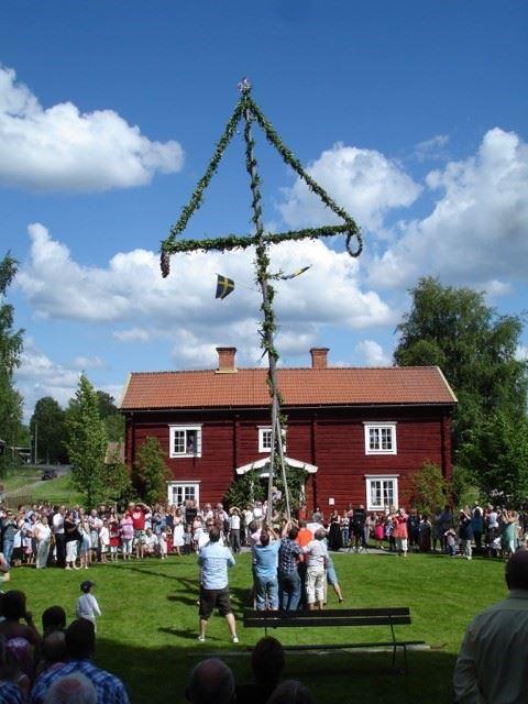 Midsommar på Norrbärke Hembygdsgård