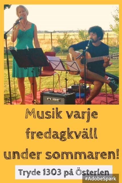Musikunderhållning på Tryde 1303