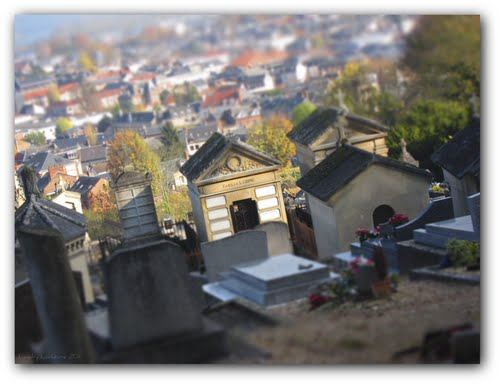 Le cimetière St Jean d'Elbeuf (visite à la bougie pour la fête des morts), vendredi 3 novembre