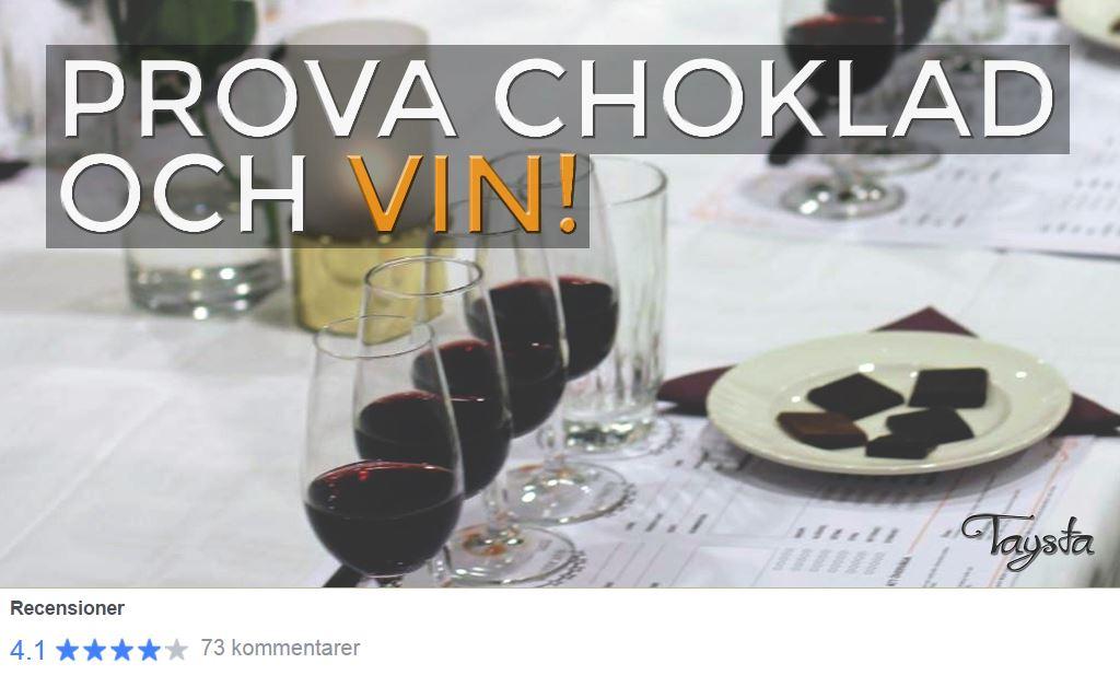 Taysta,  © Taysta, Choklad och vinprovning Gävle
